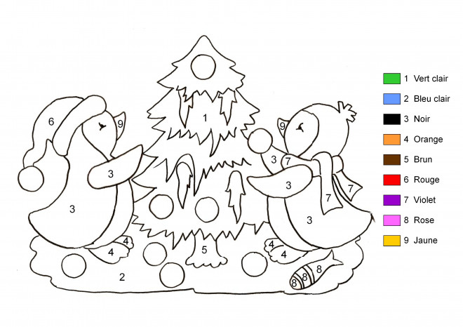 Coloriage Sapin De Noel En Couleurs Differents