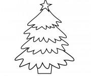 Coloriage Sapin de Noël en Hiver