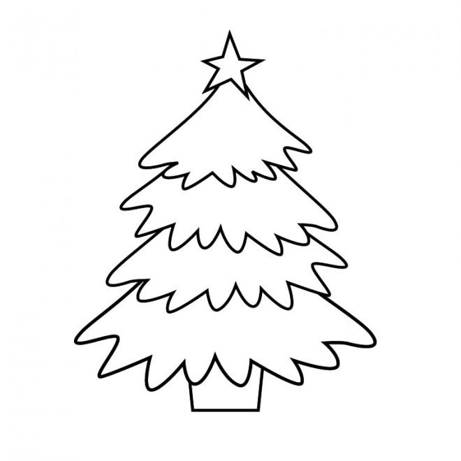 Coloriage et dessins gratuits Sapin de Noël en Hiver à imprimer