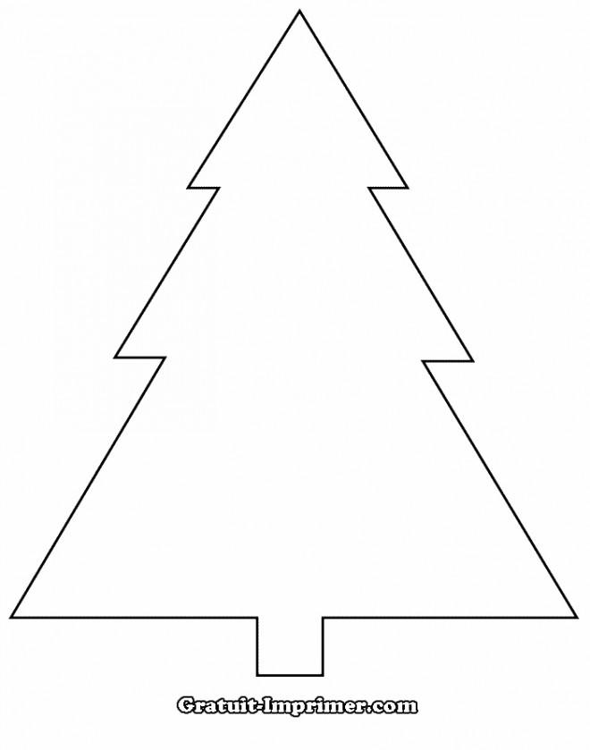 Coloriage et dessins gratuits Sapin de Noël en Ligne à imprimer