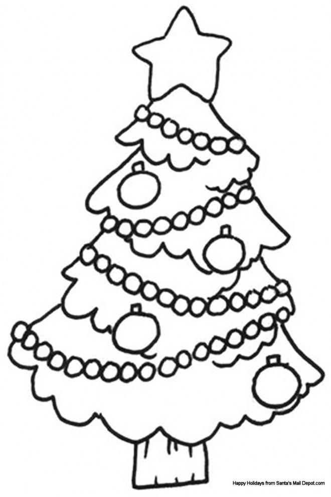 Coloriage et dessins gratuits Sapin de Noël enjolivé à imprimer