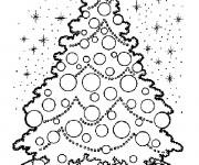 Coloriage Sapin de Noël et Le Ciel