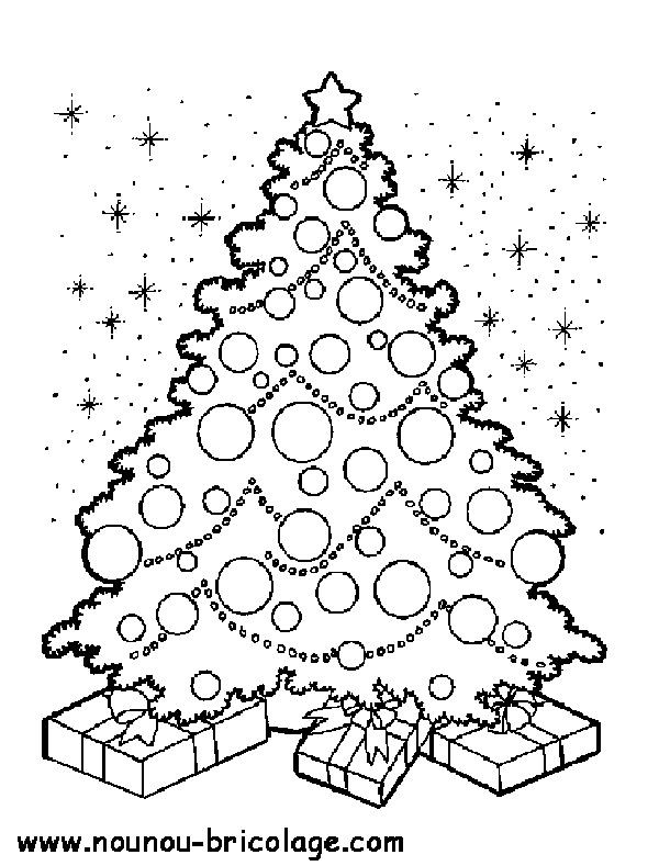 Coloriage et dessins gratuits Sapin de Noël et Le Ciel à imprimer