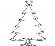 Coloriage Sapin de Noël facile à décorer