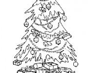 Coloriage Sapin de Noël magnifique