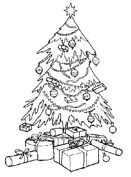 Coloriage et dessins gratuits Sapin de Noël magnifique à imprimer
