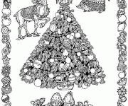 Coloriage Sapin de Noël mandala