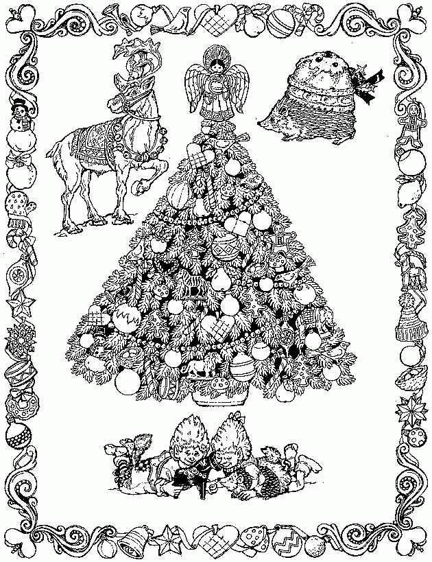 Coloriage et dessins gratuits Sapin de Noël mandala à imprimer