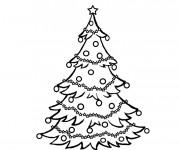 Coloriage et dessins gratuit Sapin de Noël maternelle à imprimer