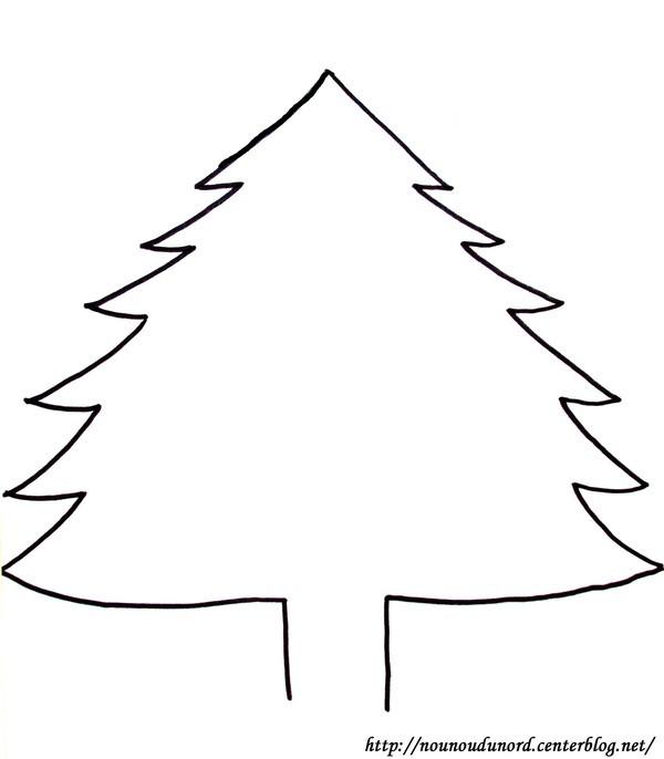 Coloriage et dessins gratuits Sapin de Noël naturel à imprimer