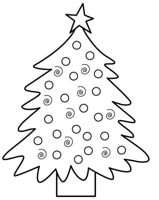 Coloriage et dessins gratuits Sapin de Noël originale à imprimer