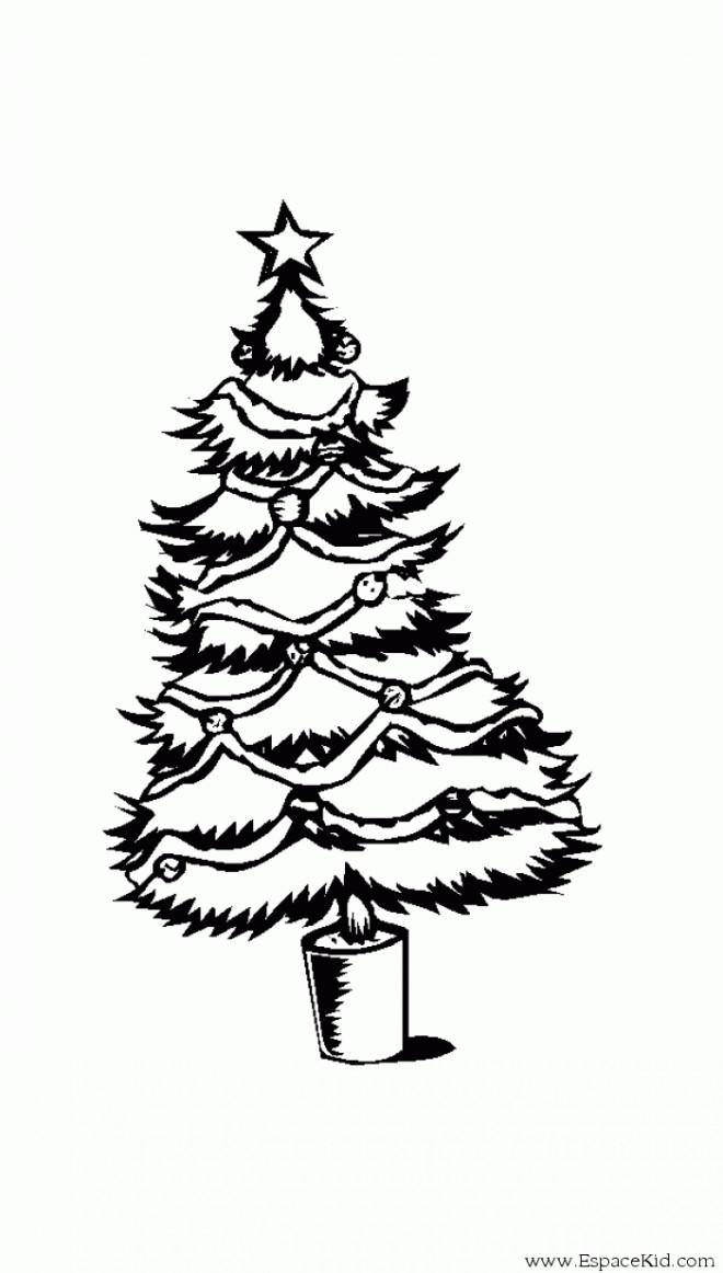 Coloriage et dessins gratuits Sapin de Noël pour enfants à imprimer