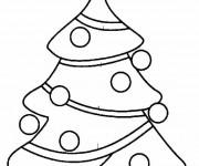 Coloriage et dessins gratuit Sapin de Noël pour Famille à imprimer