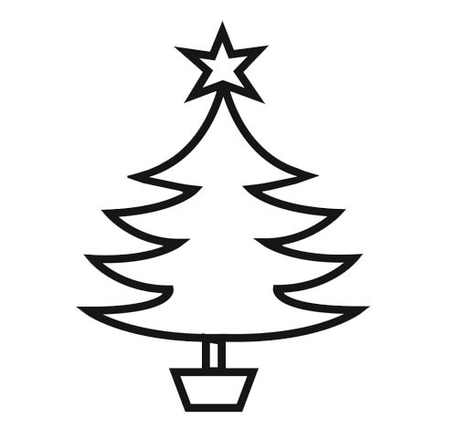 Coloriage Sapin de Noël pour petits dessin gratuit à imprimer