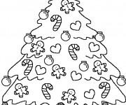 Coloriage Sapin de Noël qui brille