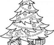 Coloriage Sapin de Noël splendide