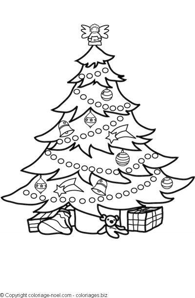 Coloriage et dessins gratuits Sapin de Noël splendide à imprimer