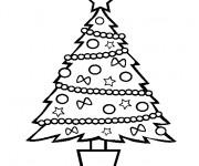 Coloriage Sapin de Noël stylisé