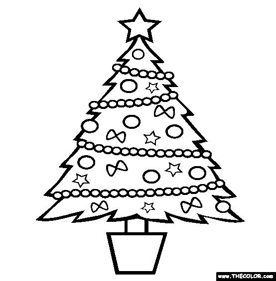Coloriage et dessins gratuits Sapin de Noël stylisé à imprimer