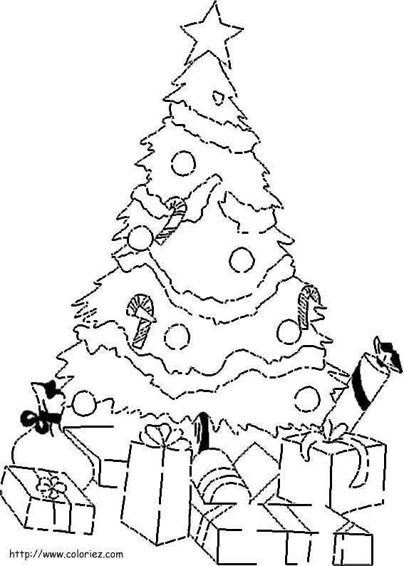 Coloriage et dessins gratuits Sapin de Noël sur ordinateur à imprimer