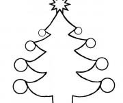 Coloriage Sapin de Noël sympathique