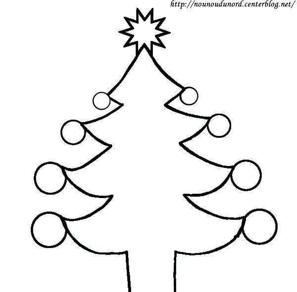 Coloriage et dessins gratuits Sapin de Noël sympathique à imprimer