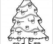 Coloriage et dessins gratuit Sapin de Noël vecteur à imprimer