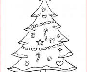 Coloriage Sapin pour un Joyeux Noël