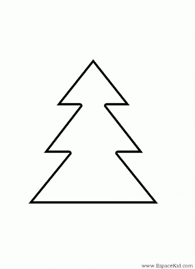 Coloriage Sapin Simple En Triangles Dessin Gratuit à Imprimer