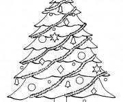 Coloriage Sapin symbole de Noël