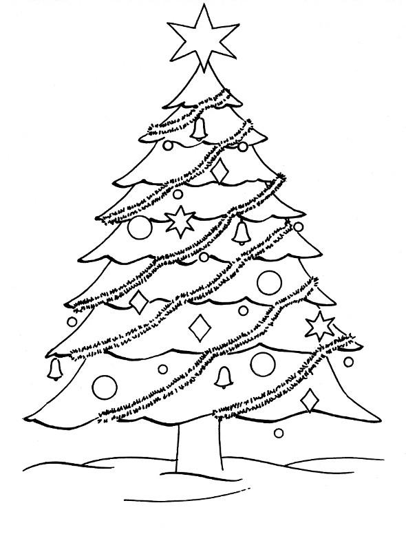 Coloriage et dessins gratuits Sapin symbole de Noël à imprimer