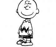 Coloriage Charlie Brown facile