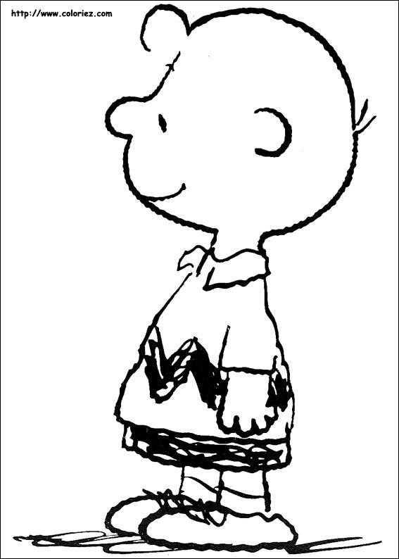 Coloriage et dessins gratuits Charlie heureux à colorier à imprimer