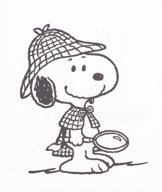 Coloriage et dessins gratuits Detective Snoopy à imprimer