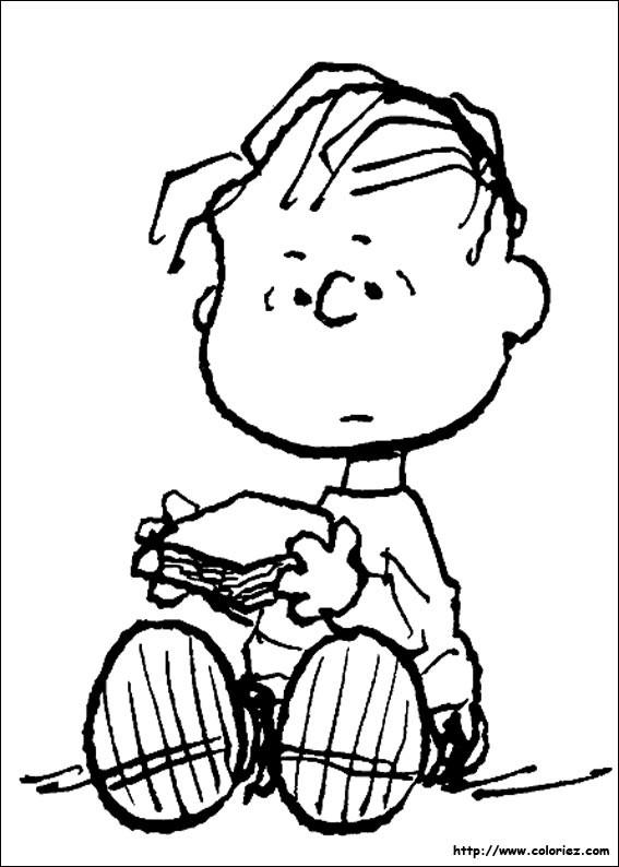 Coloriage et dessins gratuits Linus Snoopy en ligne à imprimer
