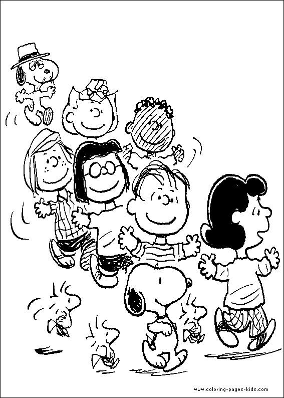 Coloriage et dessins gratuits Peanuts Personnages à imprimer