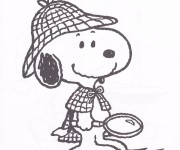 Coloriage Snoopy 13