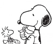 Coloriage Snoopy 17