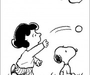 Coloriage Snoopy 20
