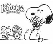 Coloriage et dessins gratuit Snoopy dessin animé à imprimer