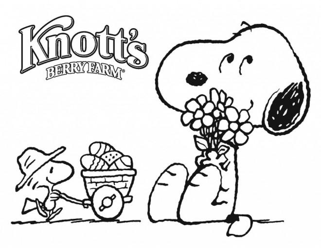 Coloriage et dessins gratuits Snoopy dessin animé à imprimer