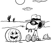 Coloriage Snoopy en Halloween