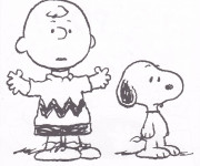 Coloriage Snoopy et Charlie Brown
