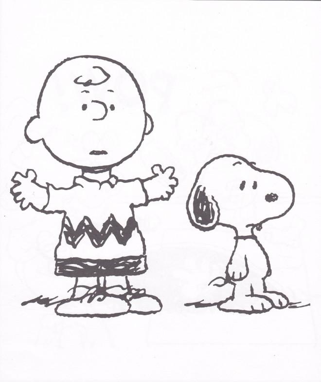 Coloriage et dessins gratuits Snoopy et Charlie Brown à imprimer