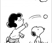 Coloriage Snoopy et Lucy