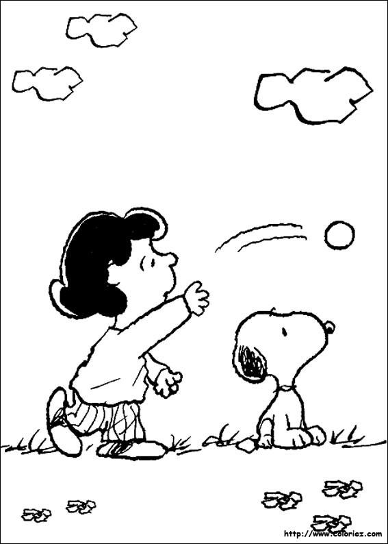 Coloriage et dessins gratuits Snoopy et Lucy à imprimer