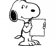 Coloriage Snoopy facile