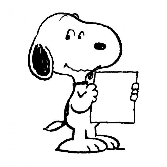 Coloriage et dessins gratuits Snoopy facile à imprimer