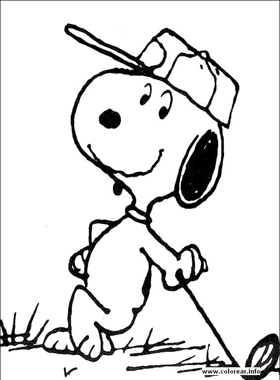Coloriage et dessins gratuits Snoopy golfeur à colorier à imprimer