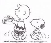 Coloriage Snoopy humoristique en ligne